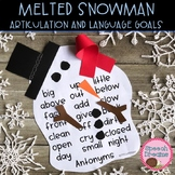 Melted Snowman Speech Therapy Craft {winter articulation language craftivity}