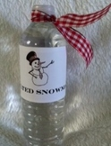 """Melted  Snowman"" Water Bottle Label"