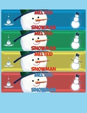 Melted Snowman Water Bottle Labels, Instant Download, Holi