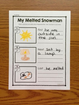 Melted Snowman Writing Activity