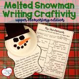 Melted Snowman Writing Craftivity, bulletin board set (upp