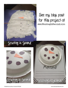 Melted Snowman Writing Template {Freebie}
