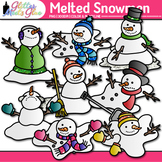 Melted Snowmen Clip Art {Frosty the Snowman Melted for Winter Resources}