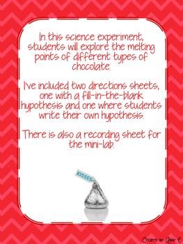Melting Chocolate Science Mini Lab