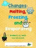 Melting, Freezing, Evaporating...Identify/ Predict Changes. TEKS/NGSS