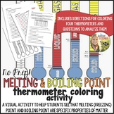 Melting (Freezing) Point and Boiling Point Thermometer Coloring Activity