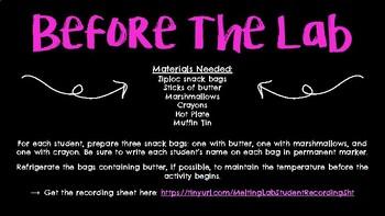Melting Lab Procedures & PPT