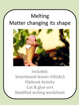 Melting Science Lesson for Special Education