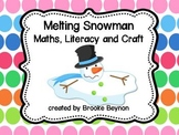 Melting Snowman - Maths, Literacy and Craft Pack
