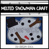 Melting Snowman Name Craft