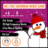 Melting Snowman Word Guess Game for Spelling - Grade 2