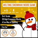 Melting Snowman Word Guess Game for Spelling - Grade 3