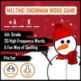 Melting Snowman Word Guess Game for Spelling - Grade 4