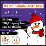 Melting Snowman Word Guess Game for Spelling - Grade 5