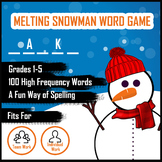 BUNDLE! Melting Snowman Word Guess Game for Spelling - Gra