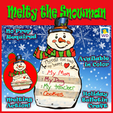 Melty the Snowman - Winter Paper Craft