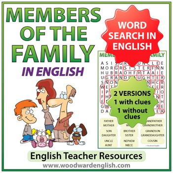 Members of the Family - English Word Search