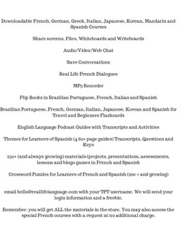 Membership to Real Life Language