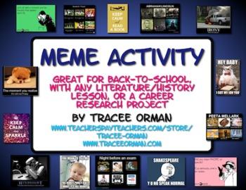 Meme Activity for Icebreaker, Literature, History, Careers, Sociology