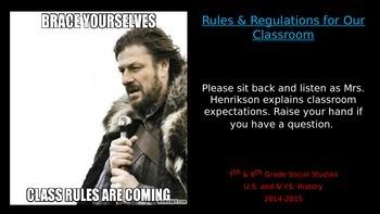 Meme Classroom Rules