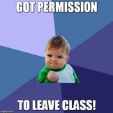 Meme Hall Pass