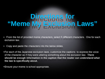 Meme my Exclusion Laws