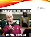 Memes Classroom Expectations