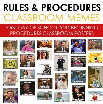 Memes for First Day of School Classroom Rules and Procedures