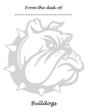 Memo Sheet Mascot Bulldog