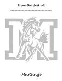 Memo Sheet Mascot Mustangs