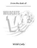Memo Sheet Mascot Wild Cats
