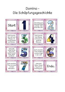 Memo Spiel und Domino Spiel zur Schöpfungsgeschichte