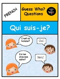 Guess Who? questions in French with assessment sheets