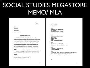 Memo / MLA format