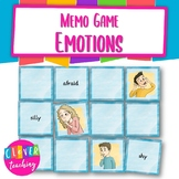 Memo game emotions