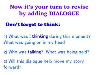 Memoir - A Common Core Aligned Digital Writing Unit - Adding Dialogue