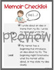 Memoir Anchor Charts - Grade 5 - Writing Workshop Units of Study