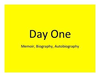 Memoir, Autobiography, and Biography Unit