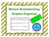 Memoir Brainstorming Graphic Organizer