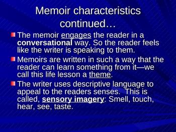 Memoir, Characteristics of, ppt. presentation