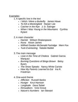 Memoir: Endings and Titles MINI Unit All-in-One DEAL!