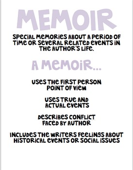 Memoir Mini Anchor Chart