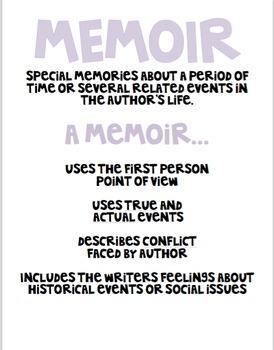 Memoir Mini Anchor Chart
