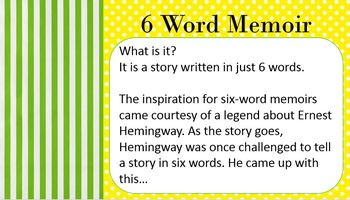 Memoir Narrative Writing Unit