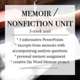 Memoir/ Nonfiction unit