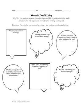 Memoir Pre-Writing Handout