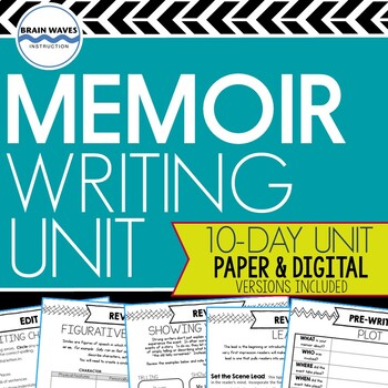 Memoir Study and Writing Unit:  10-Day Common Core Aligned Memoir Writing Unit