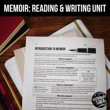 Memoir Unit: 2+ Weeks of Reading, Writing, & Discussion