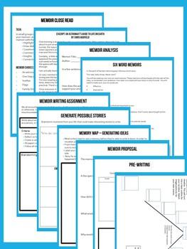 Memoir Unit Plan - Complete Printable Workbook