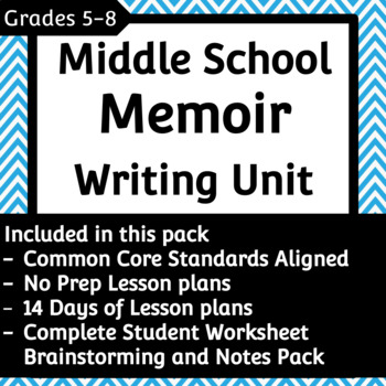 Common core memoir unit for 8th grade array memoir writing unit teaching resources teachers pay teachers rh teacherspayteachers com fandeluxe Gallery